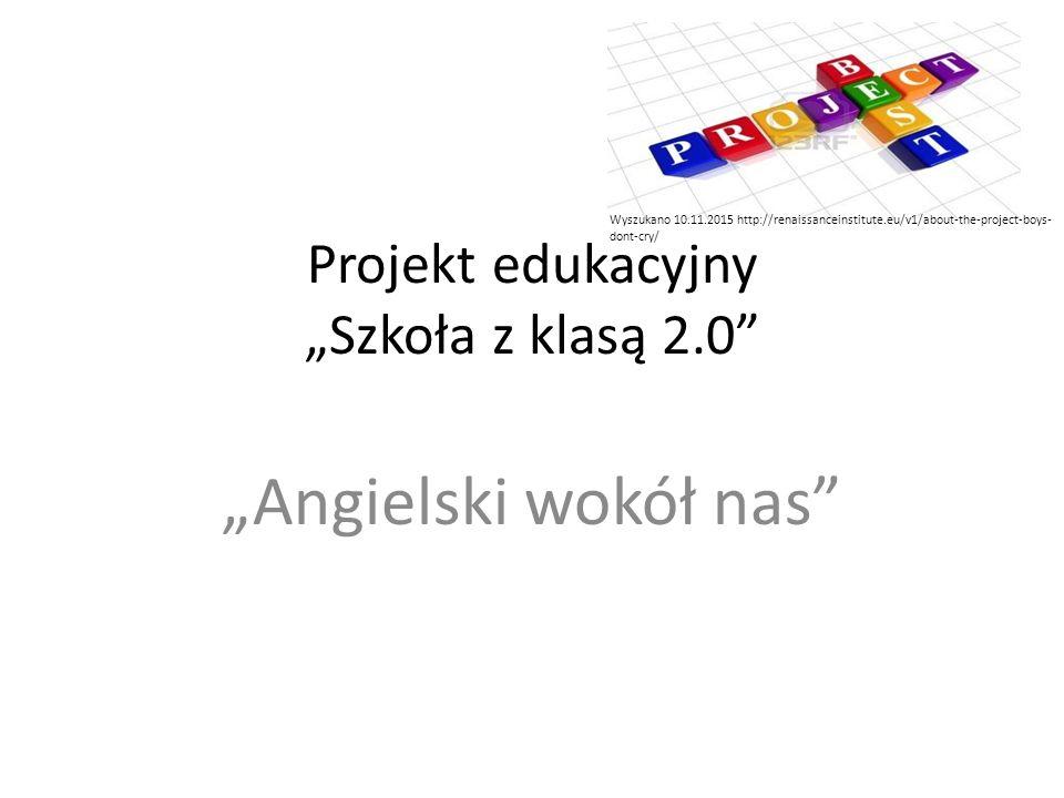 """Projekt edukacyjny """"Szkoła z klasą 2.0 """"Angielski wokół nas Wyszukano 10.11.2015 http://renaissanceinstitute.eu/v1/about-the-project-boys- dont-cry/"""