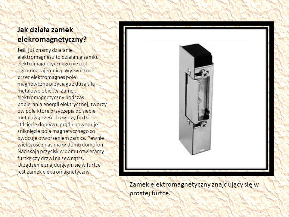 Jak działa zamek elekromagnetyczny.