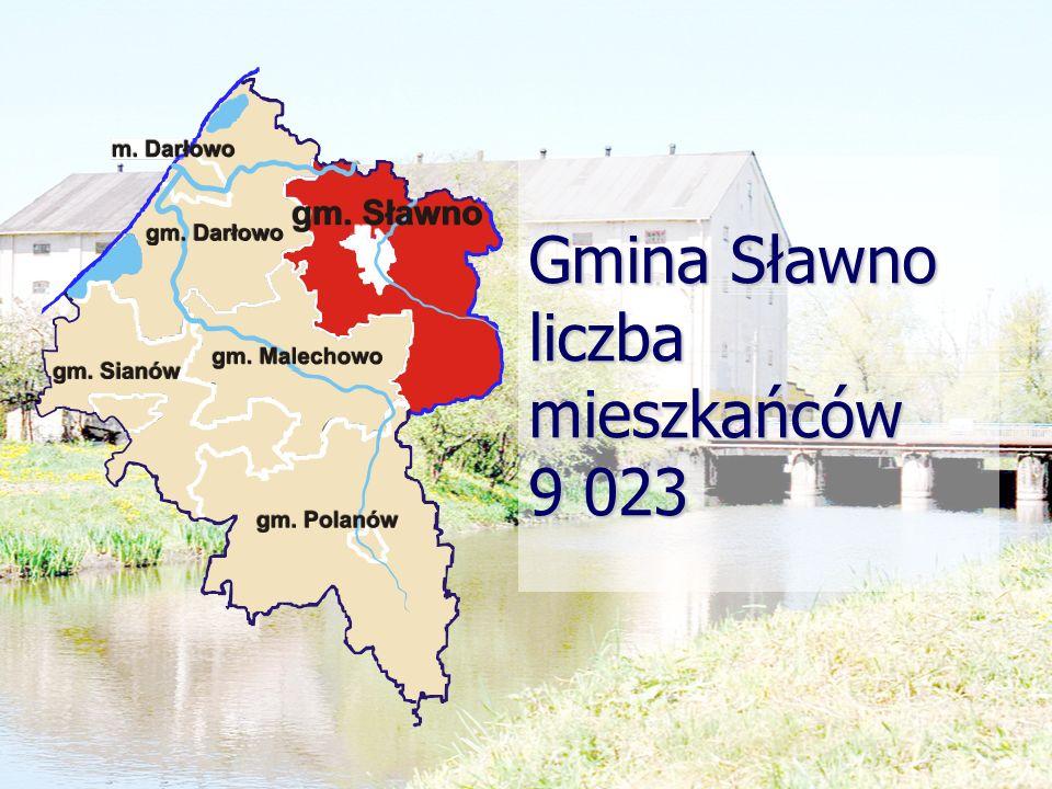 Gmina Sławno liczba mieszkańców 9 023