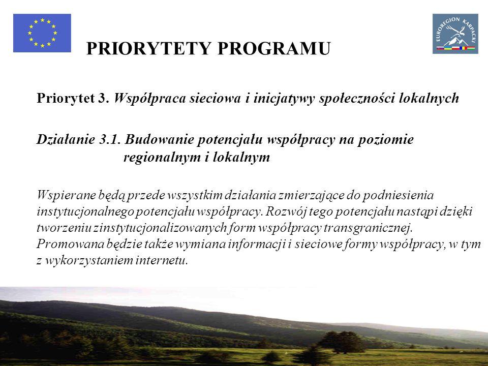 22 PRIORYTETY PROGRAMU Priorytet 3.