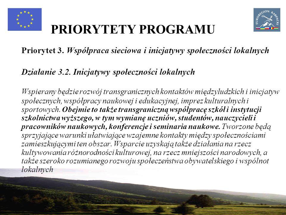 23 PRIORYTETY PROGRAMU Priorytet 3.