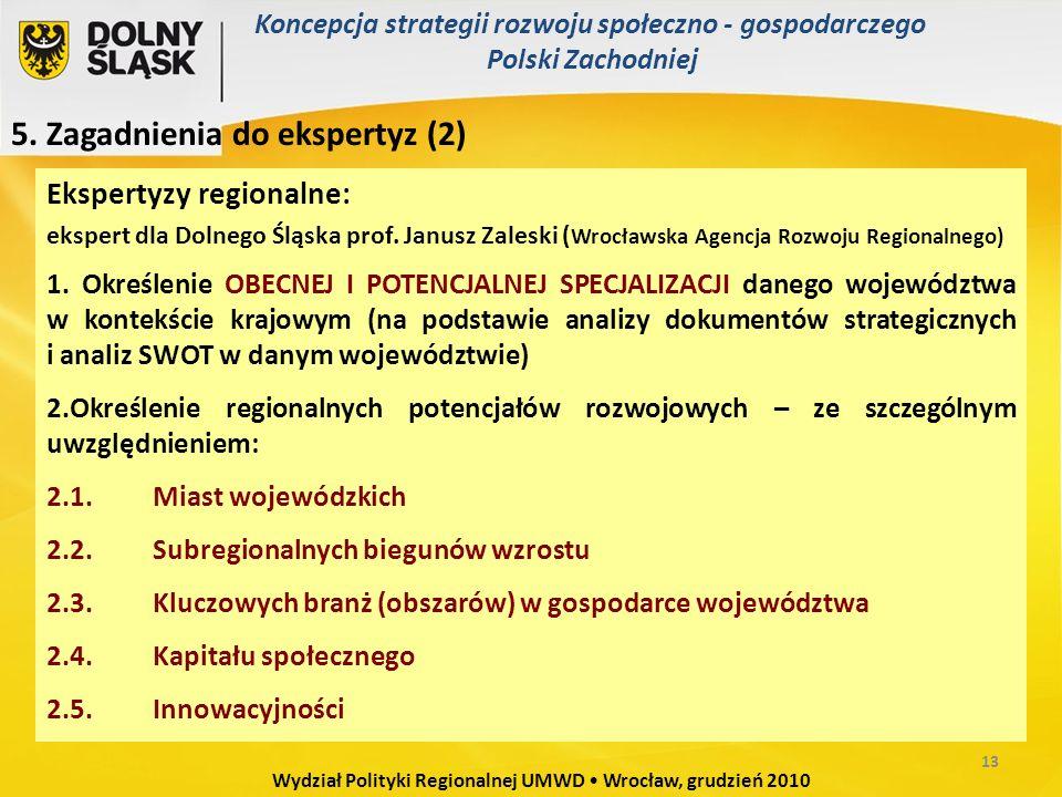Ekspertyzy regionalne: ekspert dla Dolnego Śląska prof.