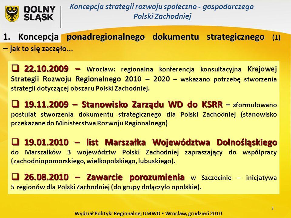 Wydział Polityki Regionalnej UMWD Wrocław, grudzień 2010 1.