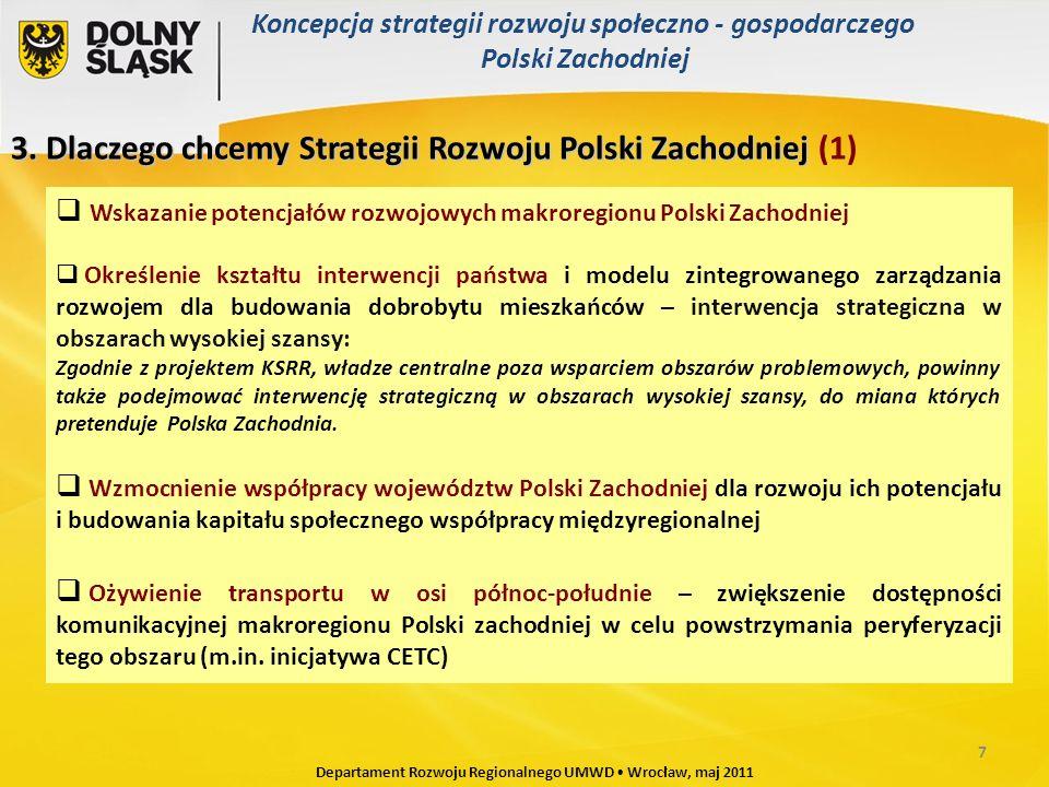 3. Dlaczego chcemy Strategii Rozwoju Polski Zachodniej 3.