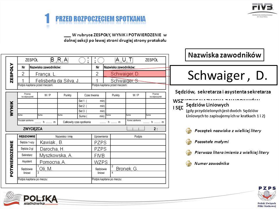 Przekaż długopis kapitanom, by mogli podpisać protokół B R AA U T França, L.