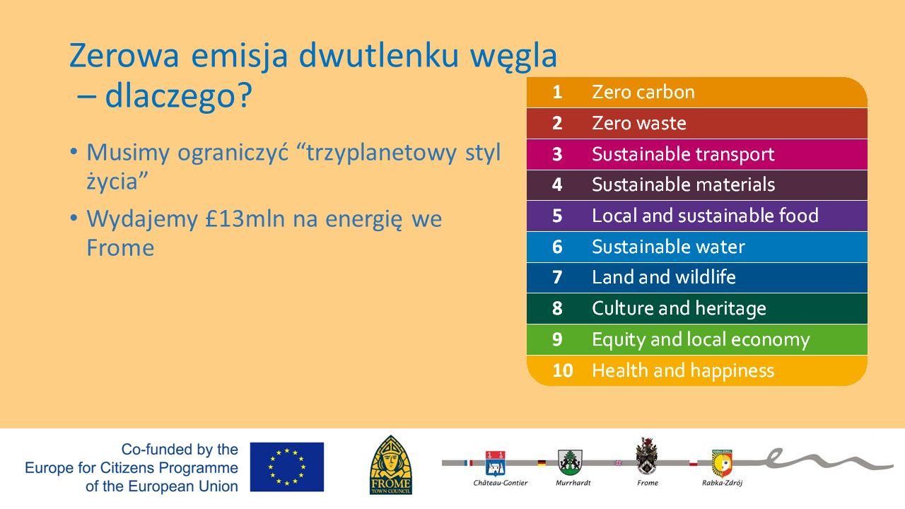 """Zerowa emisja dwutlenku węgla – dlaczego? Musimy ograniczyć """"trzyplanetowy styl życia"""" Wydajemy £13mln na energię we Frome"""