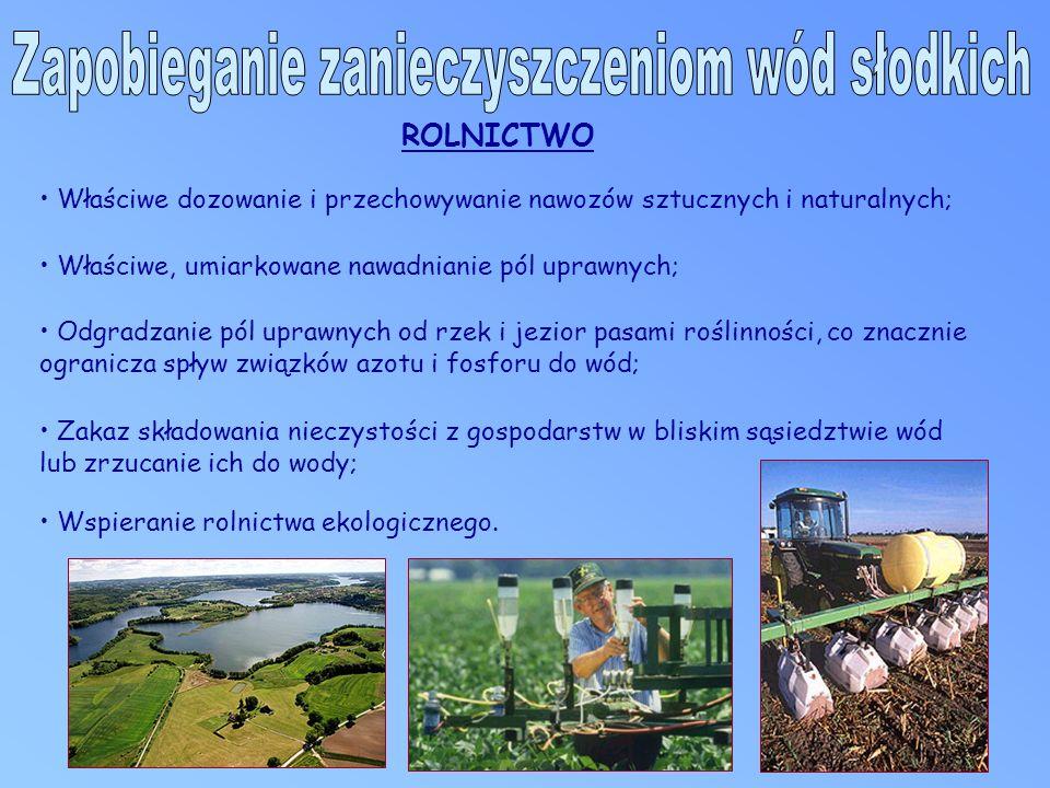 Wspieranie rolnictwa ekologicznego.