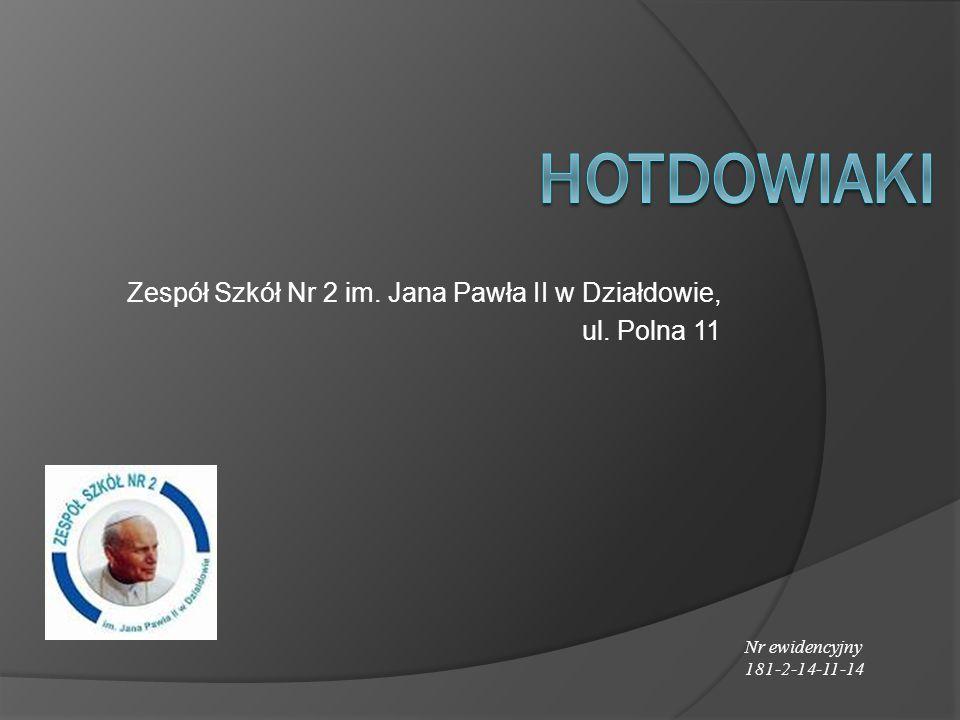 Zespół Szkół Nr 2 im. Jana Pawła II w Działdowie, ul. Polna 11 Nr ewidencyjny 181-2-14-11-14