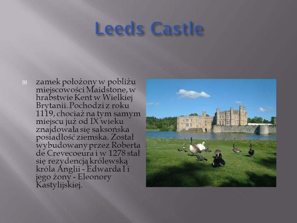  zamek położony w pobliżu miejscowości Maidstone, w hrabstwie Kent w Wielkiej Brytanii.