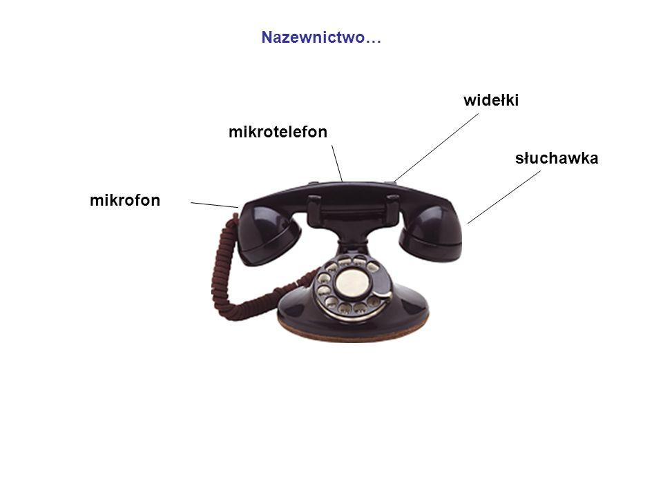 potem: mikrofon węglowy tarcza numerowa dzwonek itd.. mikrofon węglowy
