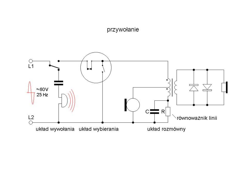 Uproszczony schemat aparatu telefonicznego CB centralnej baterii