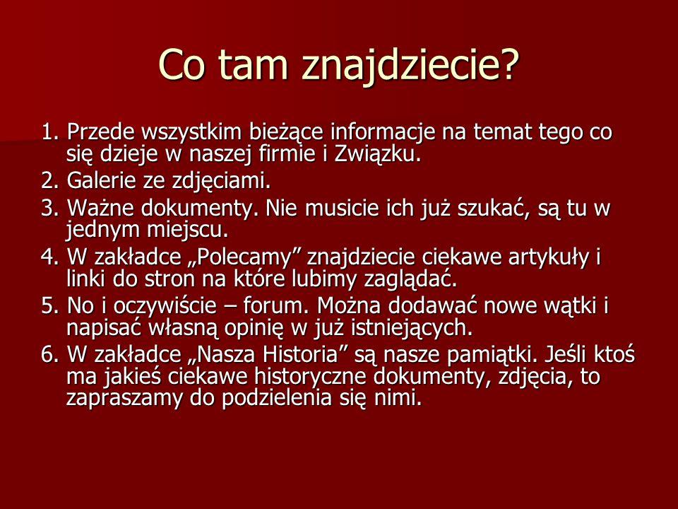Sposób rejestracji na stronie http://solidarnosc-szczecin-enea.pl/ Jak się zarejestrować a następnie zmienić hasło wygenerowane przez system