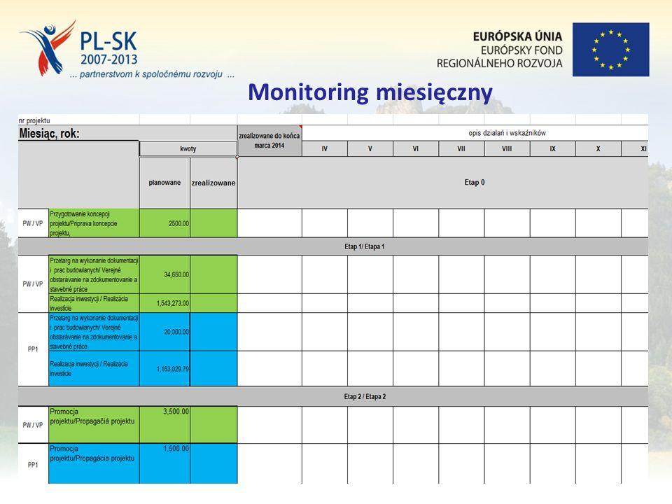 Stopka (tekst, tekst, tekst....) 14 Monitoring miesięczny