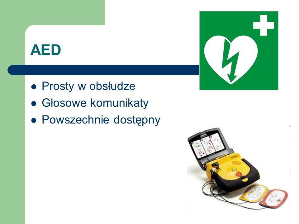 AED Prosty w obsłudze Głosowe komunikaty Powszechnie dostępny