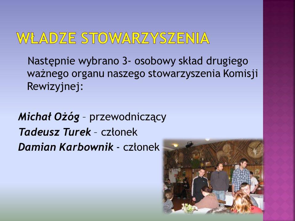 Wybór do władz stowarzyszenia odbył się poprzez głosowanie tajne i wyłonił skład pięcioosobowego zarządu: Katarzyna Wieczorek – prezes Ewa Pobędza – w