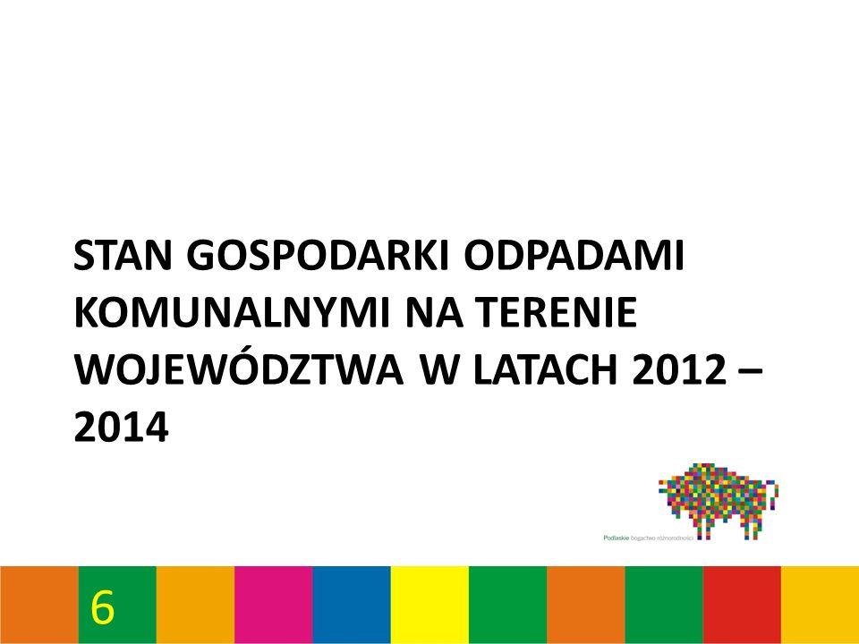 57 Osiągnięty średni poziom ograniczenia masy odpadów komunalnych ulegających biodegradacji przekazywanych do składowania w Regionie Zachodnim – obszar Czartoria* *Zgodnie z rozporządzeniem Ministra Środowiska z dnia 25.05.2012 r.