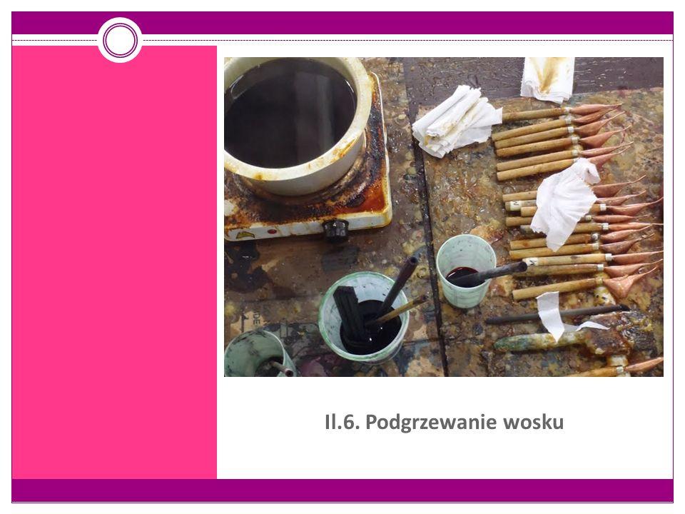 Il.6. Podgrzewanie wosku