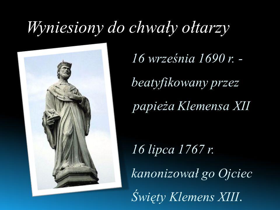 Wyniesiony do chwały ołtarzy 16 września 1690 r.