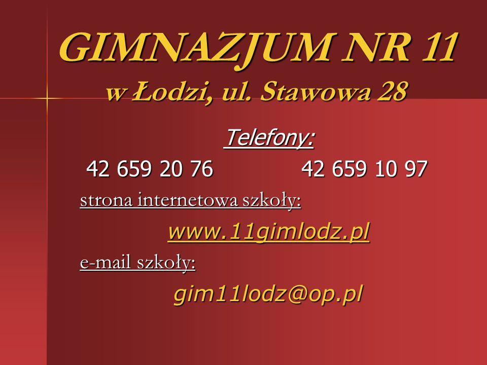 GIMNAZJUM NR 11 w Łodzi, ul.