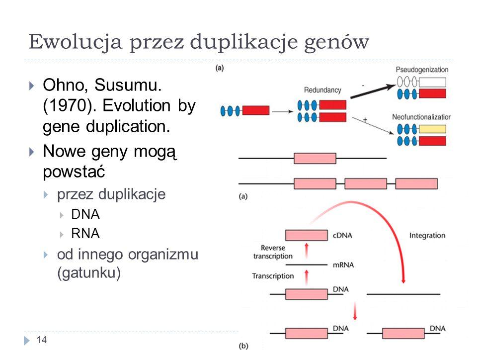 Ewolucja przez duplikacje genów  Ohno, Susumu.(1970).