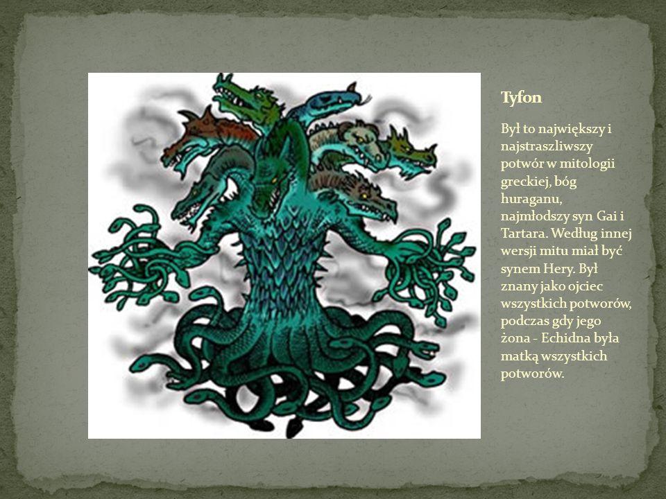 Był to potwór - wielogłowy wąż wodny w mitologii greckiej.