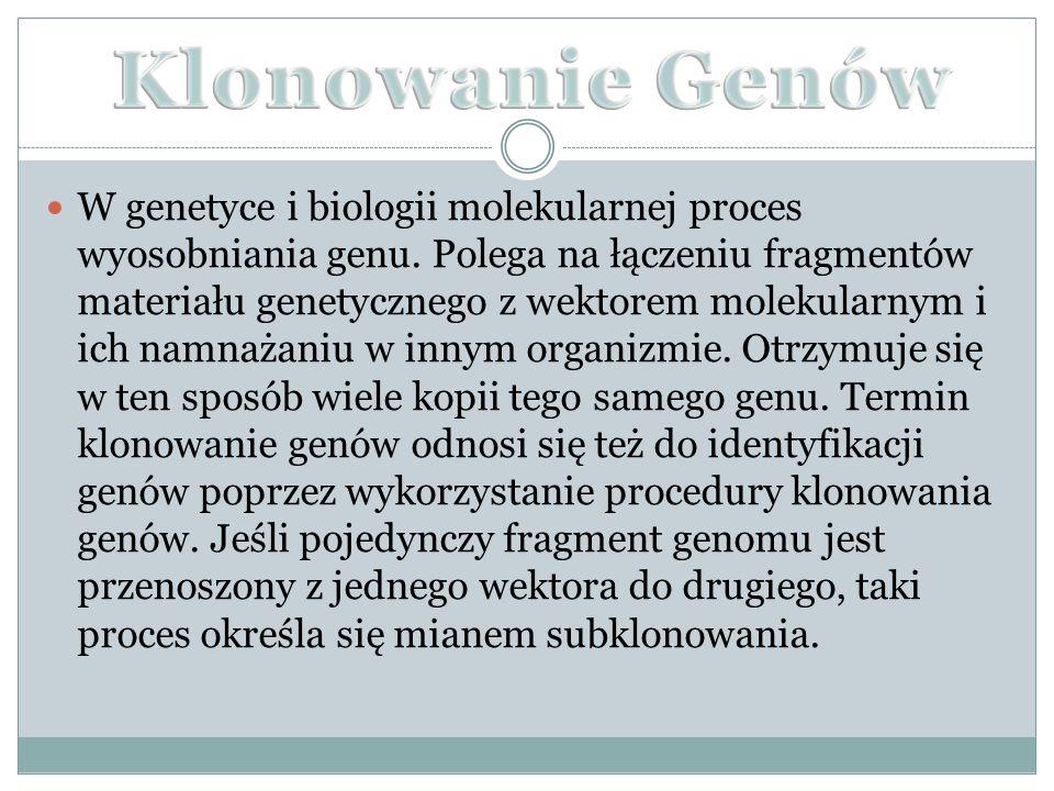 W genetyce i biologii molekularnej proces wyosobniania genu.