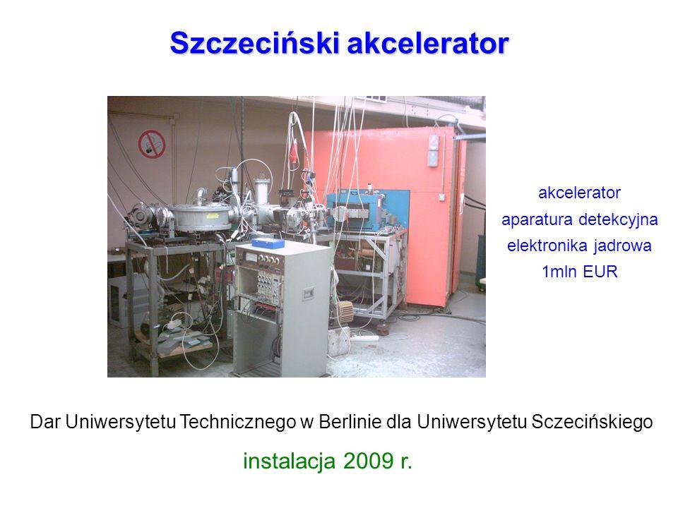 Szczeciński akcelerator Dar Uniwersytetu Technicznego w Berlinie dla Uniwersytetu Sczecińskiego instalacja 2009 r. akcelerator aparatura detekcyjna el