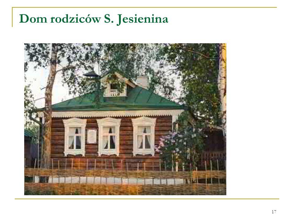 17 Dom rodziców S. Jesienina