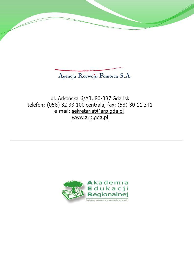 ul. Arkońska 6/A3, 80-387 Gdańsk telefon: (058) 32 33 100 centrala, fax: (58) 30 11 341 e-mail: sekretariat@arp.gda.pl www.arp.gda.pl