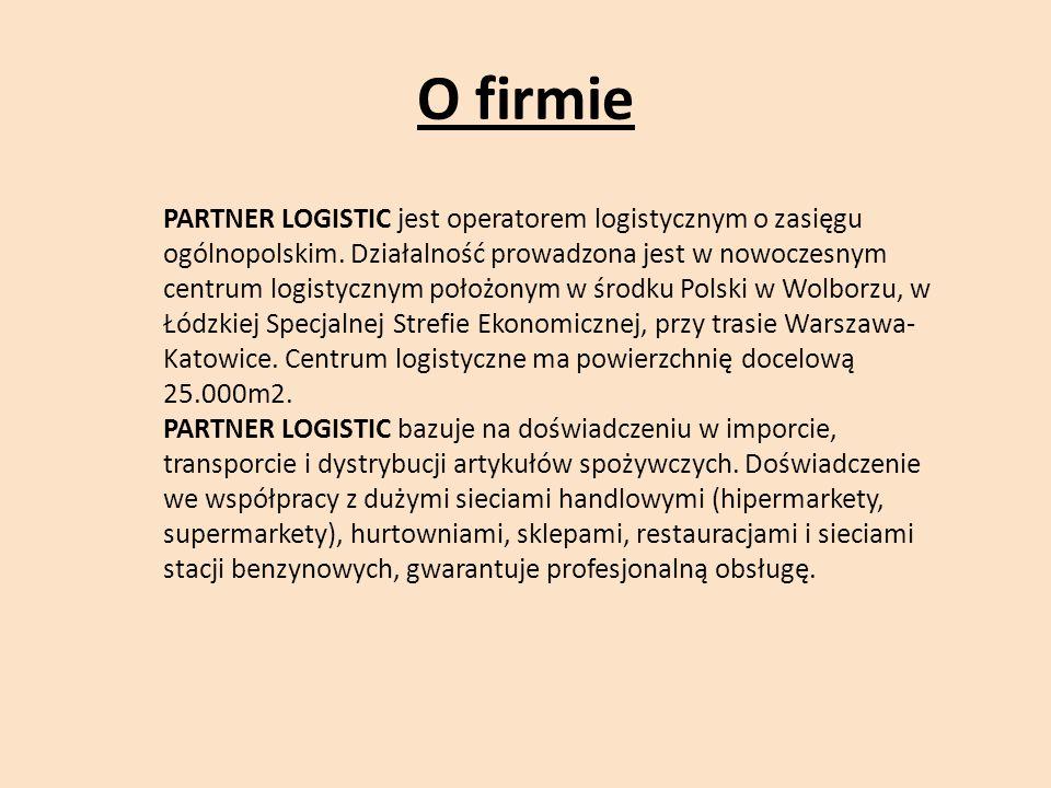 O firmie PARTNER LOGISTIC jest operatorem logistycznym o zasięgu ogólnopolskim.