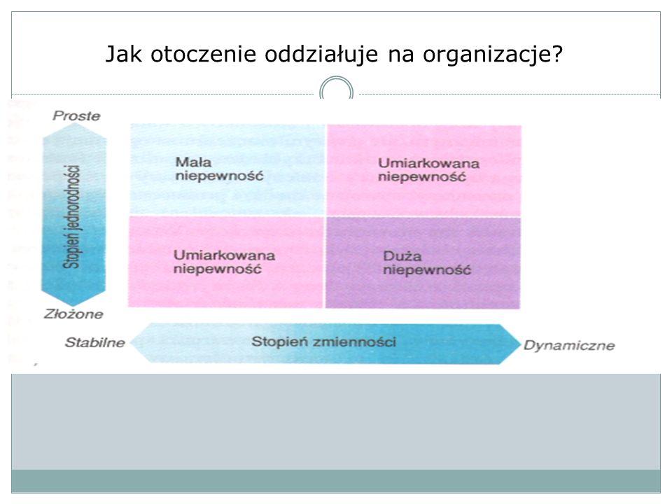 Jak otoczenie oddziałuje na organizacje