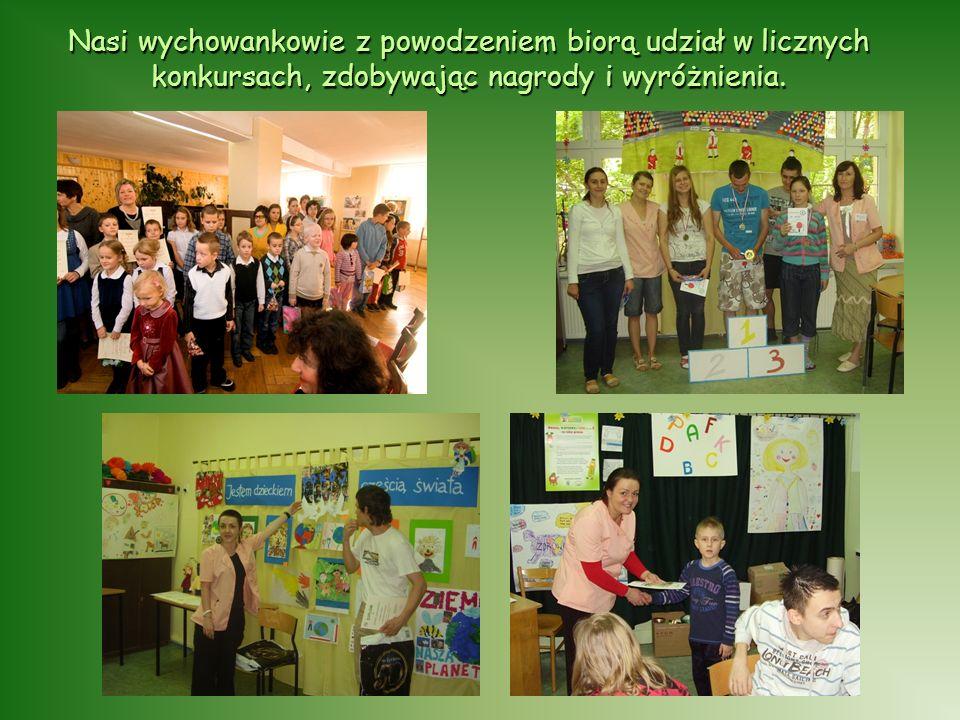 Nasi wychowankowie z powodzeniem biorą udział w licznych konkursach, zdobywając nagrody i wyróżnienia.