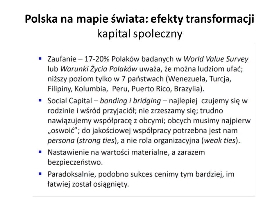 Polska na mapie świata: efekty transformacji kapital spoleczny