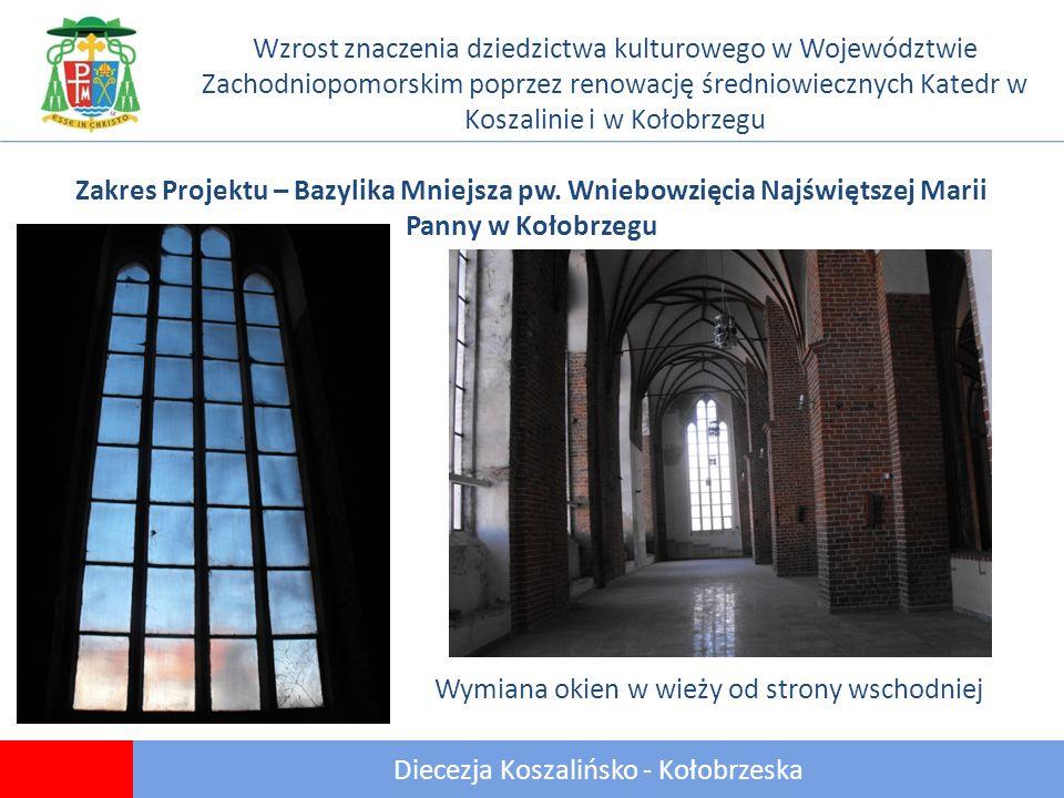 20 Diecezja Koszalińsko - Kołobrzeska Wzrost znaczenia dziedzictwa kulturowego w Województwie Zachodniopomorskim poprzez renowację średniowiecznych Katedr w Koszalinie i w Kołobrzegu Zakres Projektu – Bazylika Mniejsza pw.