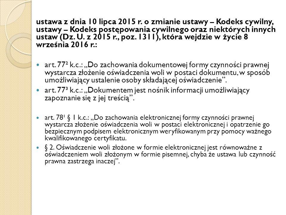 ustawa z dnia 10 lipca 2015 r.
