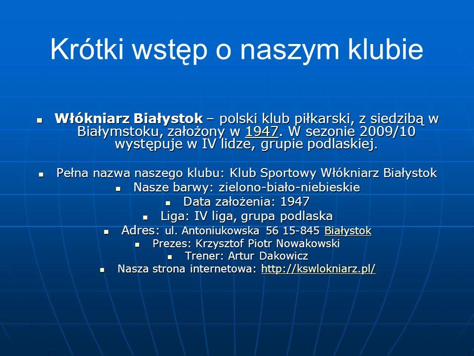 Kadra Lista zgłoszonych zawodników do rozgrywek Seniorzy, IV Liga na sezon 2010/2011 Lista zgłoszonych zawodników do rozgrywek Seniorzy, IV Liga na sezon 2010/2011 Trener: Artur Dakowicz – trener p.n.