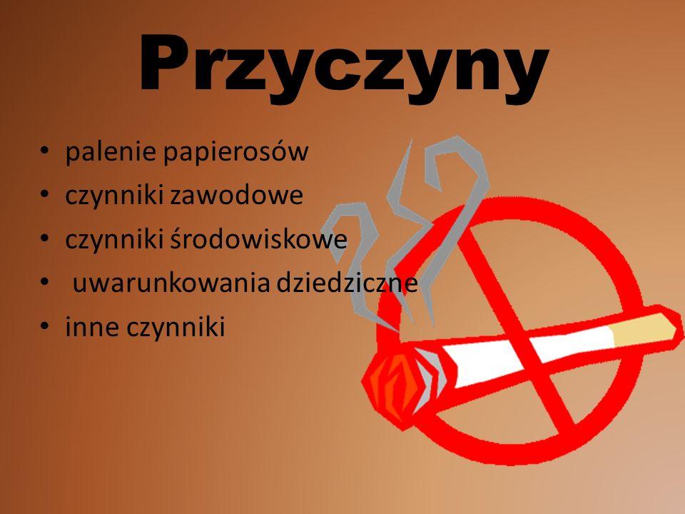 Przyczyny palenie papierosów czynniki zawodowe czynniki środowiskowe uwarunkowania dziedziczne inne czynniki