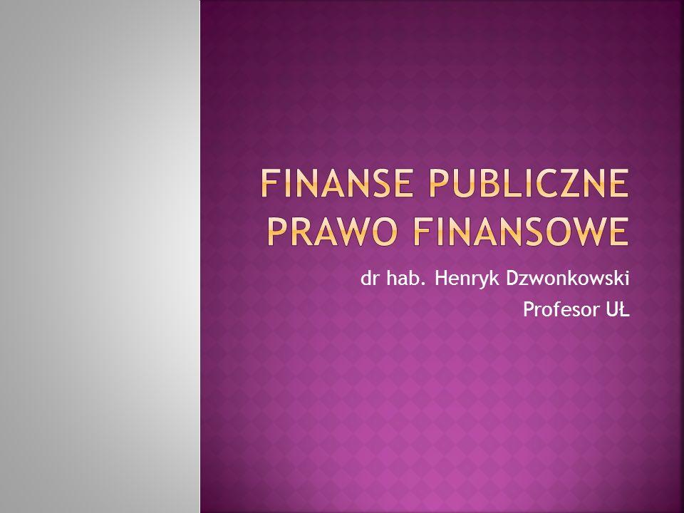 dr hab. Henryk Dzwonkowski Profesor UŁ