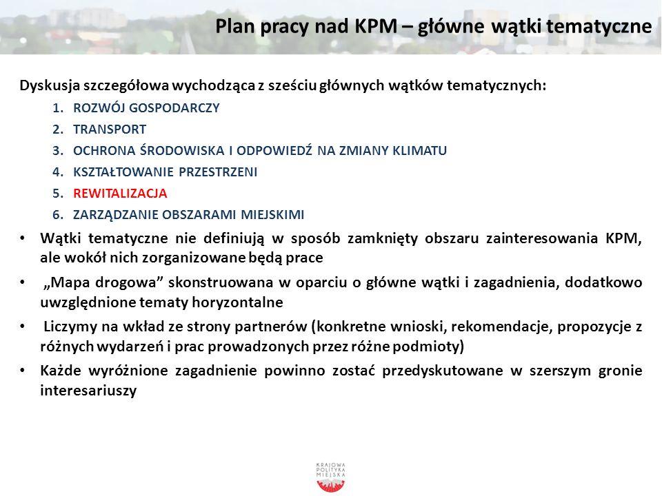 Plan pracy nad KPM – mapa drogowa