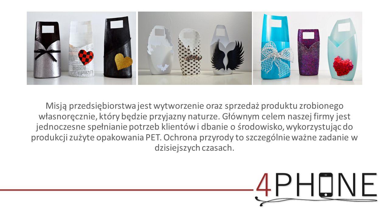 Misją przedsiębiorstwa jest wytworzenie oraz sprzedaż produktu zrobionego własnoręcznie, który będzie przyjazny naturze.