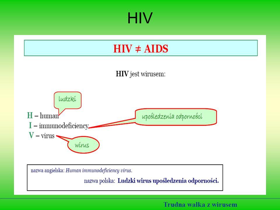HIV Trudna walka z wirusem