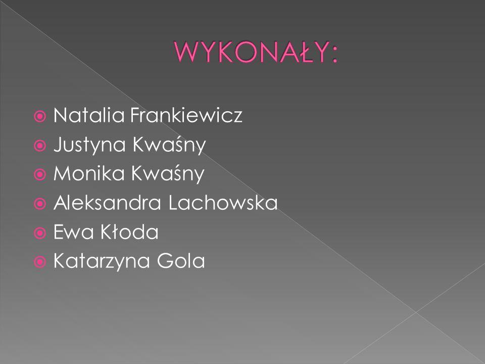  Natalia Frankiewicz  Justyna Kwaśny  Monika Kwaśny  Aleksandra Lachowska  Ewa Kłoda  Katarzyna Gola