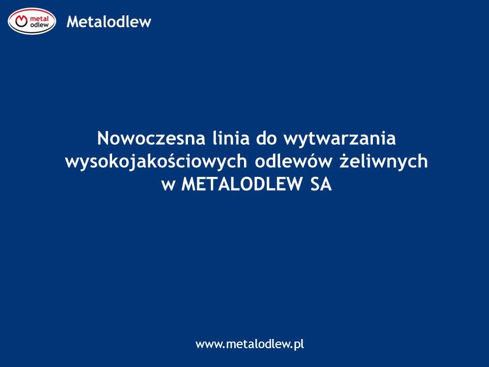 www.metalodlew.pl Nowoczesna linia do wytwarzania wysokojakościowych odlewów żeliwnych w METALODLEW SA