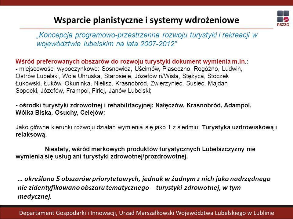 Wsparcie planistyczne i systemy wdrożeniowe … określono 5 obszarów priorytetowych, jednak w żadnym z nich jako nadrzędnego nie zidentyfikowano obszaru