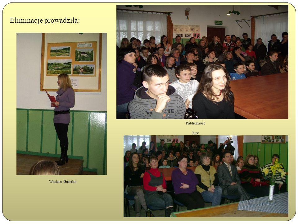 Eliminacje prowadziła: Wioleta Garstka Publiczność Jury