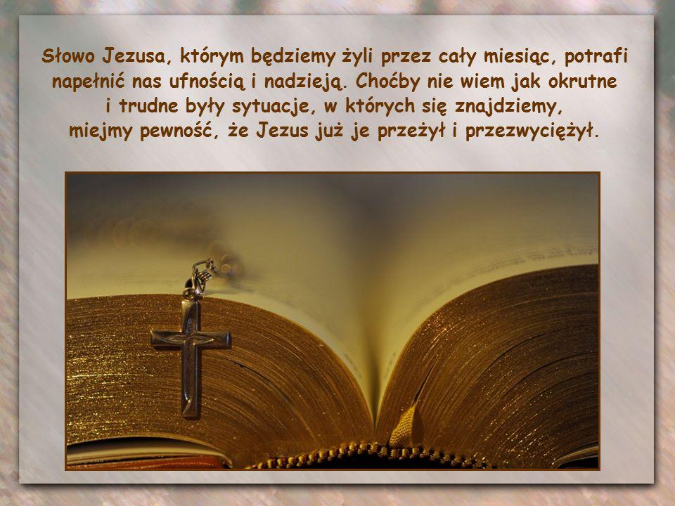 """""""Miejcie odwagę: Ja zwyciężyłem świat."""" Dlatego rozumiemy zachętę Jezusa, by niczego już się nie bać:"""