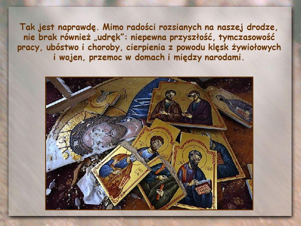 Jezus zwraca się do apostołów zgromadzonych wokół siebie na tej Ostatniej Wieczerzy, ale ma przed sobą wszystkie pokolenia uczniów, którzy za Nim pójd