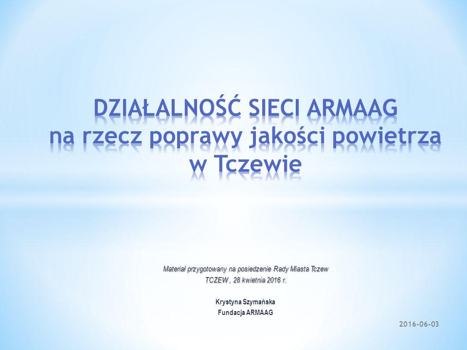 Materiał przygotowany na posiedzenie Rady Miasta Tczew TCZEW, 28 kwietnia 2016 r. Krystyna Szymańska Fundacja ARMAAG 2016-06-03