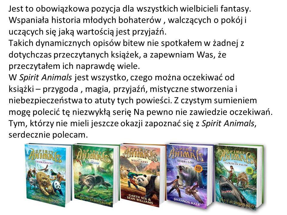 Jest to obowiązkowa pozycja dla wszystkich wielbicieli fantasy. Wspaniała historia młodych bohaterów, walczących o pokój i uczących się jaką wartością