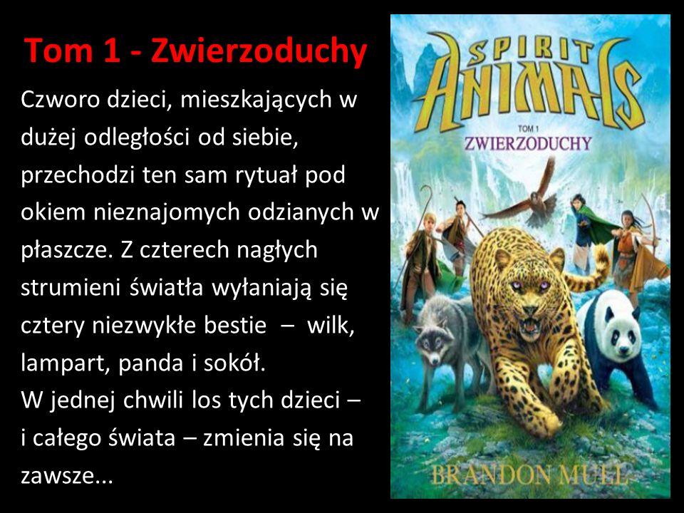 Tom 1 - Zwierzoduchy Czworo dzieci, mieszkających w dużej odległości od siebie, przechodzi ten sam rytuał pod okiem nieznajomych odzianych w płaszcze.
